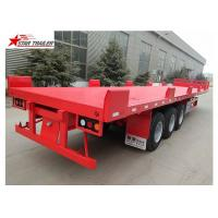 Wholesale 12 Wheels 13 Meters Platform Semi Trailer 3 Axles Low Alloy Steel Material from china suppliers