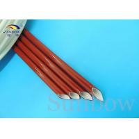 Wholesale Insulation type Silicone Fiberglass Sleeving / Flame Retardant industrial sleeves from china suppliers