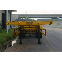 Wholesale Steel 2 Axles Tank Container Trailer Chassis / 20 Foot Container Chassis from china suppliers