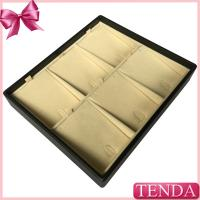 Wholesale Customized Wooden MDF Velvet Leatherette PU Leather Display Trays for Jewelry Jewellery from china suppliers