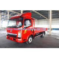 Wholesale HOWO 4X2 4T Light Duty Commercial Trucks , Red Cargo Flatbed Truck , Red Fire from china suppliers