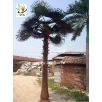 Wholesale UVG PTR046 artificial palm tree with lights outside road decoration from china suppliers