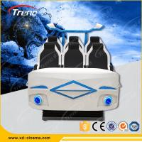 Wholesale Amusement Roller Coaster 9D Virtual Reality Simulator Six Seats For Auto Show from china suppliers