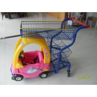 Wholesale Supermarket Kids Shopping Carts , child size metal shopping cart 4 swivel flat TPE casters from china suppliers