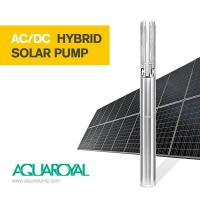Wholesale HYBRID SOLAR PUMP 4SP8/8 | MAX FLOW 16.5M3 | MAX HEAD 80M | AUTO AC/DC from china suppliers