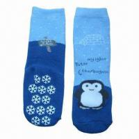 Wholesale Kid's socks/flat socks with ABS dots from china suppliers