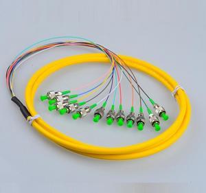 Wholesale Telecom Standard FC Pigtails FC/APC SM  Fiber Patch Cords 9/125 12Cores  Fiber Pigtails 12 Core Patch Cables from china suppliers