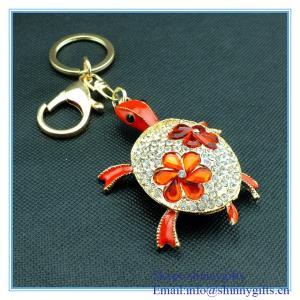 Wholesale Fashion animal tortoise shape metal keychain from china suppliers