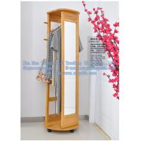 Wholesale Wooden full-length mirror, multi-function rotating wooden hangers, wooden hangers from china suppliers