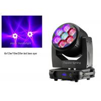 Wholesale 6x15w Rgbw 4 in1 mini Bee Eye Led Moving Head Light Dmx Zoom Led Moving Head Show Lighting from china suppliers
