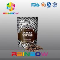 Wholesale Stand Up Plastic Pouches Packaging Aluminum Foil Coffee Beans Bag With Valve And Zipper from china suppliers