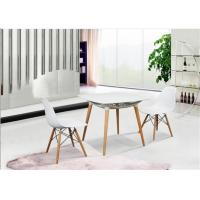 Wholesale Elegant Simplicity EAMES Plastic Chair , PP White Charles EAMES Dining Chair from china suppliers