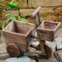 Wholesale Wood Car Cute Flower Planter for Indoor and Outdoor from china suppliers