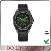 Wholesale Male All Black Stainless Steel Military Watches Luminous Display OEM / ODM from china suppliers