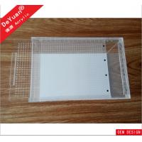 Wholesale Clear Rectangle Acrylic Fish Tank / Lucite Mini Fish Tank Laser Printing from china suppliers