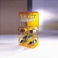 Wholesale Yellow Acrylic Display Case Holder Rack For Wine Bottle Shelves from china suppliers