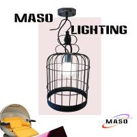 Wholesale Maso Bird Cage Modern Metal Pendant Lamp made of Iron MS-I6016 for Lobby from china suppliers