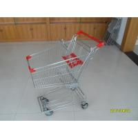 Wholesale Normal Wire Grocery Cart With 4 Swivel 4 Inch PU Wheels For Supermarket from china suppliers