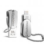 Wholesale Lighting OTG Phone USB Flash Drive , iPhone Swivel Metal 32GB USB Memory Stick from china suppliers