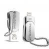 Buy cheap Lighting OTG Phone USB Flash Drive , iPhone Swivel Metal 32GB USB Memory Stick from wholesalers