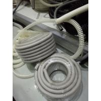 Wholesale Grey Flexible Corrugated Plastic Tubing , PVC Reinforced Plastic Flexible Hose from china suppliers