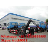Wholesale dongfeng brand 4*2 LHD Cummins 190hp hook lifter garbage truck for sale, best price dongfeng wastes collecting vehicle from china suppliers