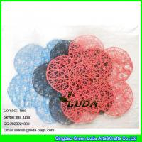Wholesale LUDA wholesale promotion tabel mat manhandmade paper straw placemat flower hot placemat from china suppliers