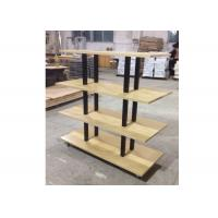 Wholesale Many Layers Wood Shelf Retail Gondola Shelving , Middle Convenience Store Shelving from china suppliers