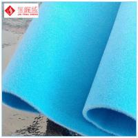 Wholesale Soft Light Blue Fashion Polyester Non Woven Fabric For Jewelry / Gift Box Insert from china suppliers