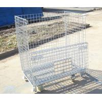 Quality Industrial stackable rigid welded storage cage with wheels for sale