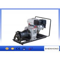 Buy cheap 10KN Belt Driven Steel Cable Powered Pulling Winch With HONDA Gasoline Engine from wholesalers