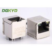 Quality High Performance 180 degree top entry RJ45 jack with transformer cat 5 for sale