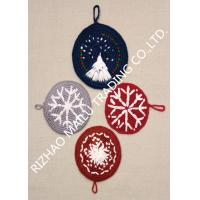 Wholesale Round Shape Handmade Crochet Accessories , Snowflake Pattern Kitchen Knitted Dishcloths Free Patterns from china suppliers