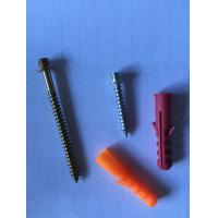 Wholesale Durable Thread Double End Wood Screw Carbon Steel With Plastic Anchor from china suppliers