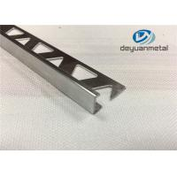 Wholesale Bright Silver Aluminium Trim Extrusion Profile With Triangle Punched from china suppliers