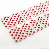 Wholesale Easy DIY Red Heart Finger adult Nail Stickers , 160 * 30 MM ,16 nails from china suppliers