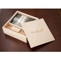Wholesale Sliding Lid Wooden Photo Frame Box , Wooden Photo Memory Box With Wooden USB Drive from china suppliers
