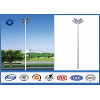 Wholesale Dodecagonal Hot dip galvanized led High Mast Light Pole 15m Height 5mm Thickness from china suppliers
