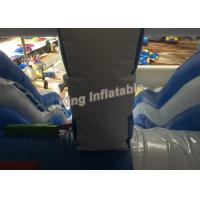 Quality Four Lane Blue Inflatable Water Slide Adult / Kids Swimming Pool Water Slide for sale