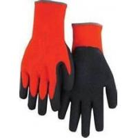 Wholesale XL Unique black red Seamless liner Polycotton mens Latex Coated Gloves from china suppliers