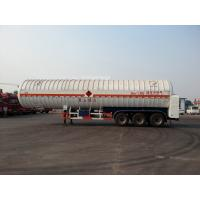 Wholesale Double Layered Gas Tank Truck 56000L 3x13T FUWA Alxe Cryogenic LNG Tank from china suppliers