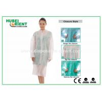 Wholesale Protective Clothing PP Disposable Lab Coats For Women , Disposable Coveralls With Zip from china suppliers