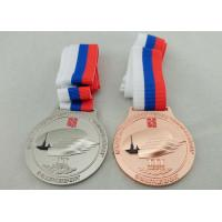 Wholesale 3 Colors Ribbon Medals Pewter Nickel Plated With Soft Enamel from china suppliers