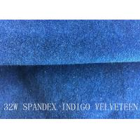 Wholesale 32W SPANDEX INDIGO VELVETEEN FOR PANTS FOR GARGEMT from china suppliers