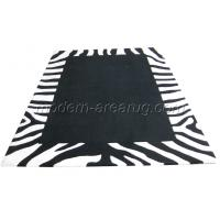 Wholesale Deep and Soft Pile Rugs, Black Acrylic Modern Area Rug Animal / Zebra Pattern Customizable from china suppliers