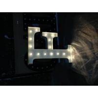 Wholesale Circus Style Light Up Vintage Marquee Letter Lights 12'' / 9'' MDF Material from china suppliers