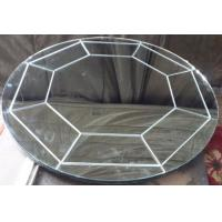 Buy cheap carved mirror round bathroom mirror clear mirror home deco from wholesalers