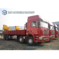 Wholesale Shacman F3000 8x4 Crane Mounted Truck 250 KW / 340 HP WeiChai Engine from china suppliers