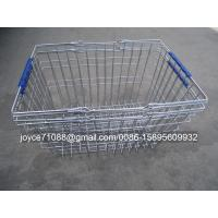 Wholesale Colored Chain Shops / Supermarket Shopping Baskets ISO9001 Certification from china suppliers