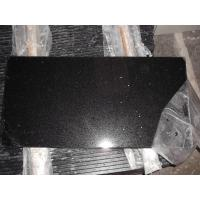 Wholesale kitchen / bathroom Artificial Quartz Stone Countertop Flooring Tiles , Black Mirror from china suppliers